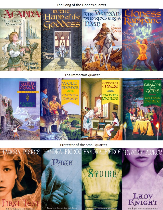 Tamora Pierce Book Series Covers