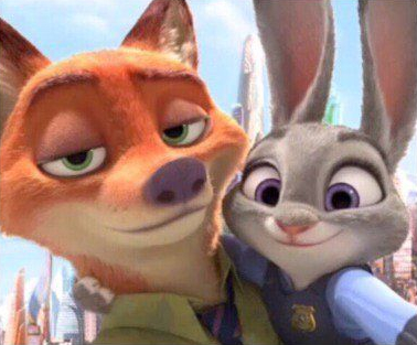 Image of Zootopia's Nick and Judy