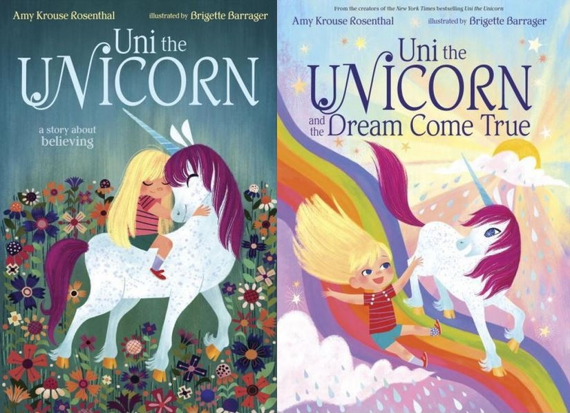 Uni the Unicorn and Uni the Unicorn and the Dream Come True Book Covers
