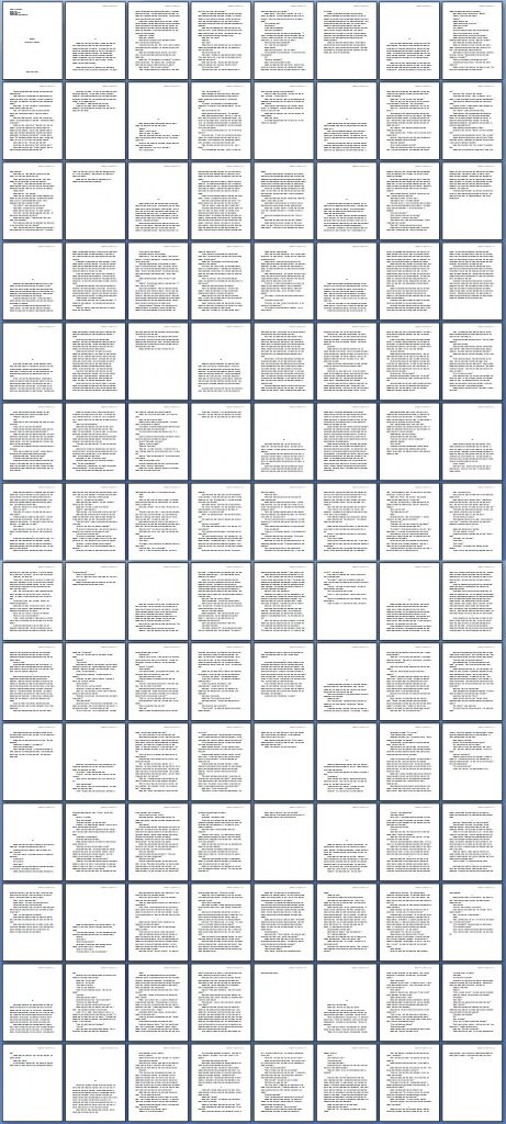 High level view of the pages of my newest novella.